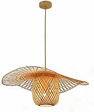 LLT Bambou Tissé Art Créatif Lustre Restaurant