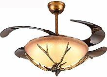 LLT Lampe de Ventilateur de Plafond À Lustre