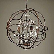 LLT Lustre Utile Rond Cristal Lampe Globe