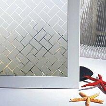 LMKJ Film de fenêtre décoratif givré