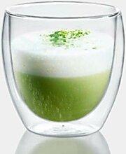 LMPENG 1 tasse en verre double pour bière, café,