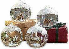 Loberon Lot de 4 décorations de Noël Animals -