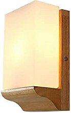 Log Applique Murale En Verre Abat-Jour LED Chambre