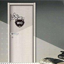 Logo autocollant de porte de toilette autocollant