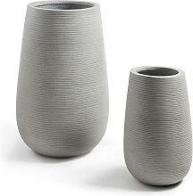 Lola - 2 cache-pots design ciment