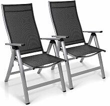 London chaise de jardin ensemble de 2 Textilène
