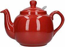 London Pottery Théière avec filtre 4 tasses Rouge
