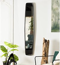 Long miroir design noir - Goldy
