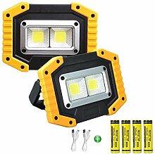 Longdafei Paquet de 2 lampes de travail à LED
