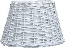 LONGMHKO Abat-Jour Abat-Jour Osier 50x30 cm Blanc