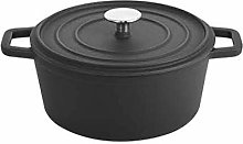 LONGWDS Frying Pan 24cm émail Pot émail Pot, en