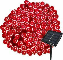 Longziming - Rouge 22M Guirlande Solaire 200 LED 8