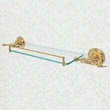 Lookshop - Étagère en verre style rétro en doré