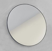 Looox Mirror Miroir rond 80cm noir SPBLR800