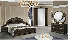 LORALIE - Chambre Complète 160x200cm Effet Bois