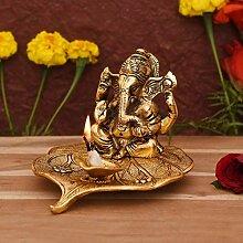 Lord Ganesh Idole en aluminium Doré Petite