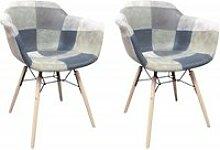 Lot 2 fauteuils patchwork - summer
