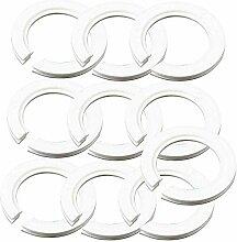 Lot de 10 anneaux convertisseurs en plastique pour