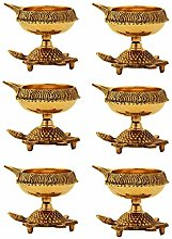 Lot de 10 lampes à huile Diwali Diya indiennes