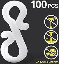 Lot de 100 mini crochets de gouttière résistants