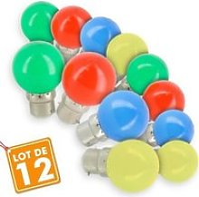 Lot de 12 Ampoules B22 Panaché Guirlande