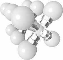 Lot de 12 ampoules Led B22 1W Guirlande Blanc