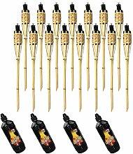 Lot de 15 torches Moritz Deluxe en bambou naturel