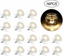 Lot de 16 Mini Spots LED Encastrables IP67