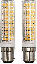 Lot de 2 ampoules LED B15D 9 W équivalent 75 W