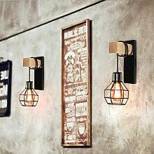 Lot de 2 Applique Murale Moderne Luminaire en Fer