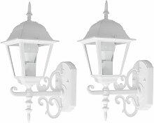 Lot de 2 appliques LED façades lanternes ALU