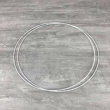 Lot de 2 Cercles métalliques Blanc Diam. 45 cm