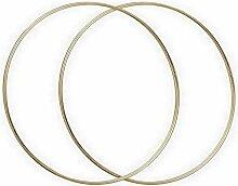 Lot de 2 Cercles métalliques doré Ancien, diam.