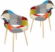 LOT de 2 chaise chaise scandinave fauteuil salle