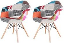 Lot de 2 Chaises avec accoudoirs Design Scandinave