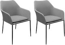 Lot de 2 chaises de jardin en aluminium et tissu