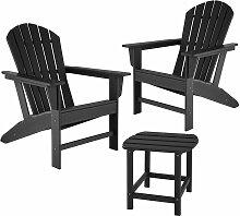 Lot de 2 chaises de jardin JANIS avec table KAMALA