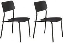 Lot de 2 chaises de jardin minimaliste en