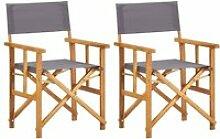 Lot de 2 Chaises de jardin Moderne Chaises de