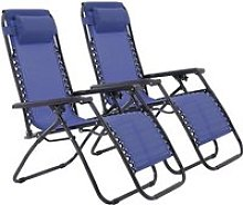 Lot de 2 Chaises de Jardin Pliable Bain de soleil