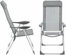 Lot de 2 chaises de jardin set de chaises