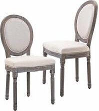 Lot de 2 chaises de salle à manger chaise de