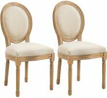 Lot de 2 chaises de salle à manger - chaise de