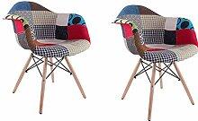 Lot de 2 chaises de salle à manger cuisine salon