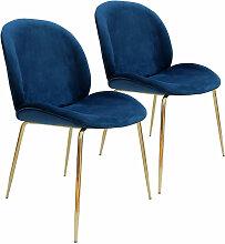 Lot de 2 chaises de table NILS Bleu - Bleu