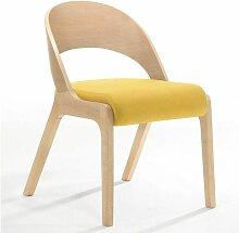 Lot de 2 chaises de table UDINA Jaune - Jaune