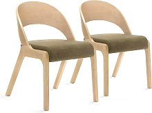 Lot de 2 chaises de table UDINA Marron - Marron