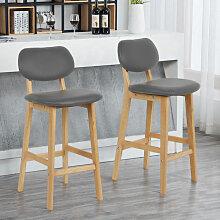 ®Lot de 2 chaises Gris Haute Chaise Cuisine