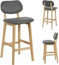 Lot de 2 chaises hombuy  gris haute chaise cuisine