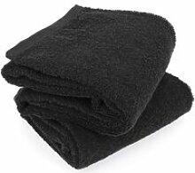 Lot de 2 draps de douche 70x130 cm alpha noir